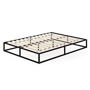 Angeland Monaco  Queen Metal Bed Frame with Wooden Slats, , rollover