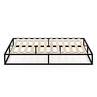 Angeland Monaco  Queen Metal Bed Frame with Wooden Slats, , large