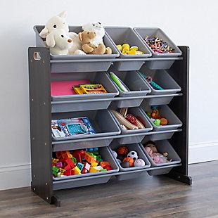 Humble Crew Sumatra Toy Storage Organizer with 12 Storage Bins, , rollover