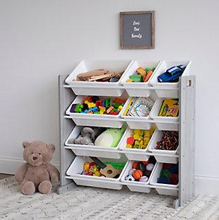 Humble Crew Slate Toy Storage Organizer with 12 Storage Bins, , rollover