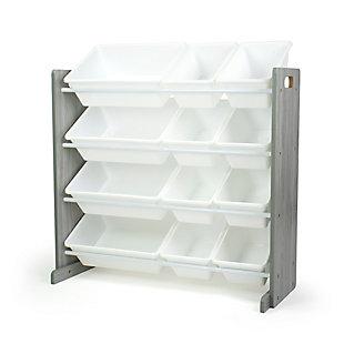 Humble Crew Slate Toy Storage Organizer with 12 Storage Bins, , large