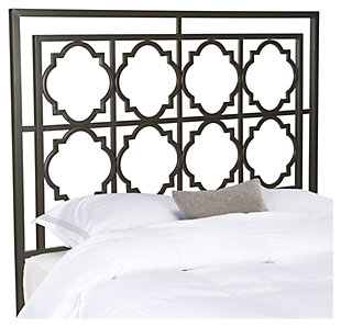 Kory Queen Metal Headboard, Gunmetal, large