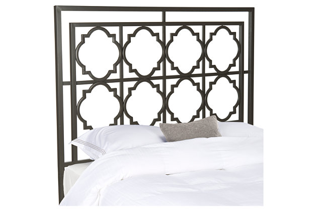 Kory Queen Metal Headboard, , large