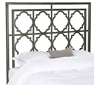 Kory Queen Metal Headboard, Antique Iron Finish, rollover