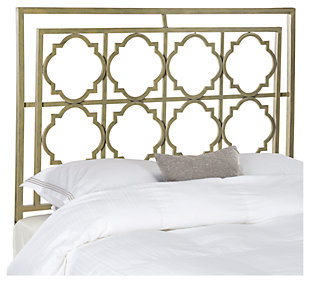 Kory Queen Metal Headboard, French Silver Finish, large