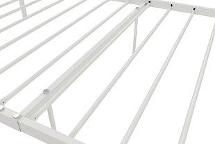 Manila Metal Twin Bed, White, large