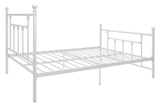 Manila Metal Full Bed, White, large