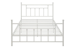 Manila Metal Queen Bed, White, rollover