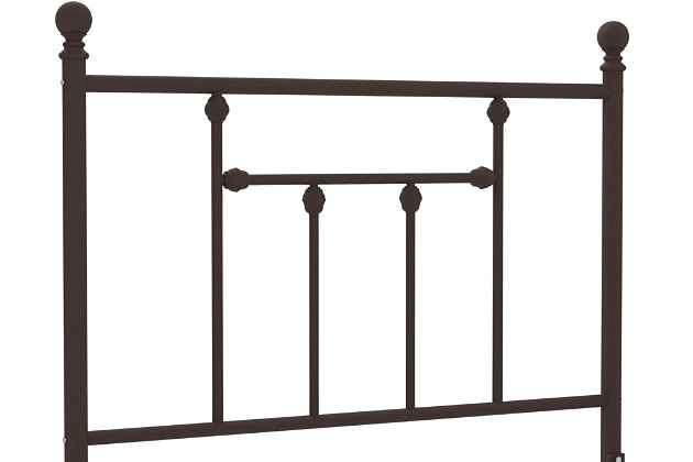 Manila Metal Twin Bed, Bronze, large
