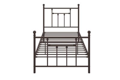 Manila Metal Twin Bed, Bronze, large