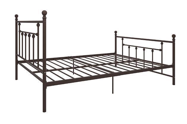 Manila Metal Queen Bed, Bronze, large