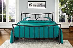 Caily Metal Full Bed, Bronze, rollover