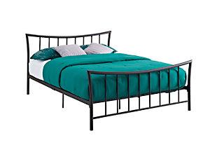 Caily Metal Full Bed, Bronze, large