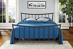 Caily Metal Queen Bed, Bronze, rollover