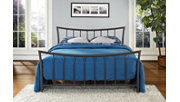 Caily Metal Queen Bed, Bronze, large