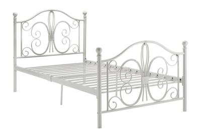 Bombai Metal Twin Bed, White, large
