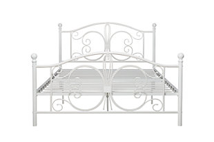Bombai Metal Full Bed, White, rollover