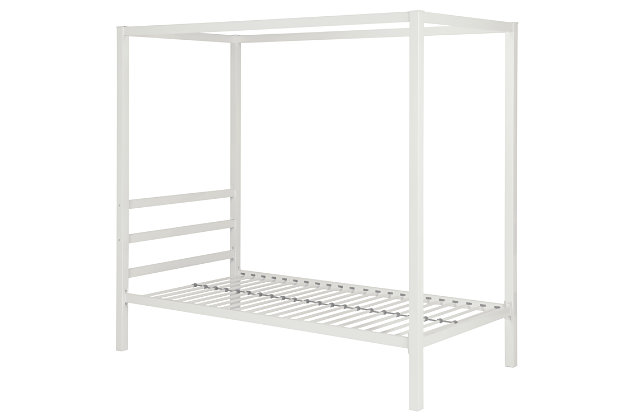 Modern Metal Canopy Twin Bed, , large