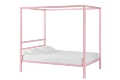 Ashley DHP Modern Metal Canopy Full Bed, Pink