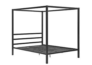 Modern Metal Canopy Queen Bed, , rollover
