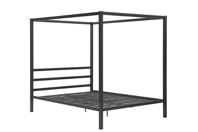 dhp modern canopy metal queen bed large