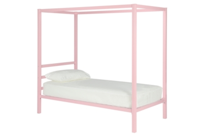 Canopy Twin Bed Pink Metal Product Photo 3166