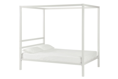 DHP Modern Metal Canopy Full Bed by Ashley HomeStore, White