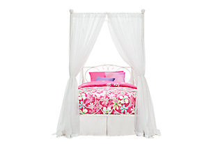 Canopy Twin Bed, White, large