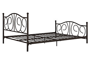 Kris Metal Full Bed, Bronze, rollover