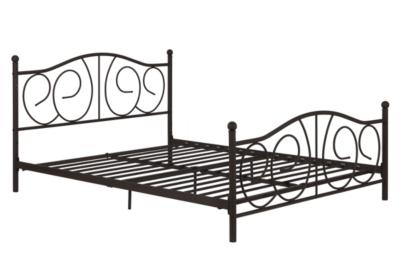 Kris Queen Metal Bed, Bronze, large