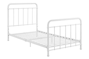 Lynly Iron Twin Bed, White, large