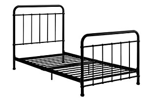 Lynly Iron Twin Bed, Black, large
