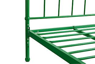 Brickmill Twin Metal Bed, Green, large