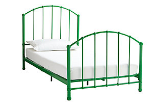 Brickmill BrickMill Ivy Twin Metal Bed, Green, large