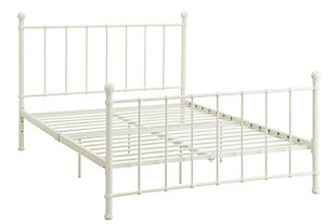 Brickmill Metal Full Bed, White, rollover