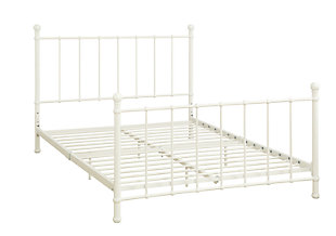 Brickmill Metal Full Bed, White, large