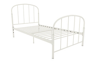 DHP Lafayette Metal Twin Bed, White, rollover