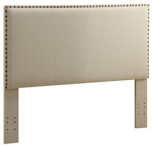 Contempo Full/Queen Upholstered Headboard, Natural, rollover