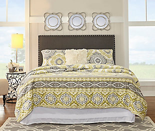 Contempo Full/Queen Upholstered Headboard, , rollover