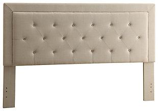 Linon Clayton King Upholstered Headboard, , rollover
