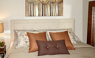 Clayton King Upholstered Headboard, Natural, rollover