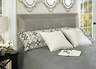 Clayton Dove Full/Queen Headboard, Gray, rollover