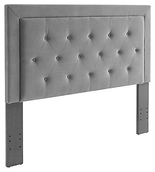 Clayton Dove Full/Queen Headboard, Gray, large