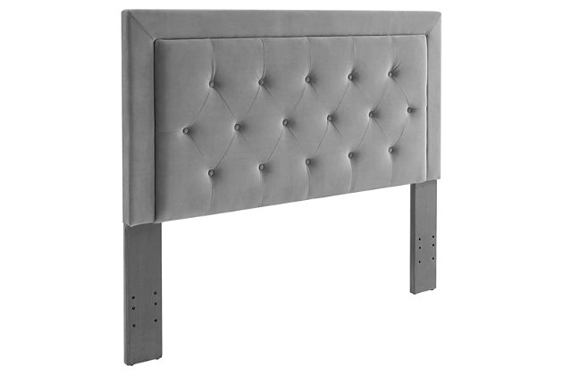 Clayton Dove Full/Queen Headboard, Gray, large