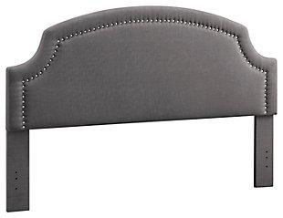Linon Regency King Upholstered Headboard, , large
