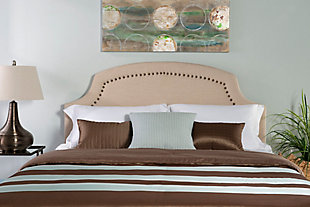 Courvan Full/Queen Upholstered Headboard, Natural, rollover