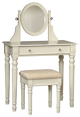Linon Lorraine Vanity Set, , large
