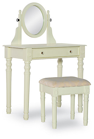 Lorraine Vanity Set, White, large