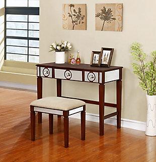 Walnut Tone Finish Madison Vanity Set, , large