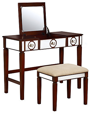 Linon Madison Vanity Set, , large